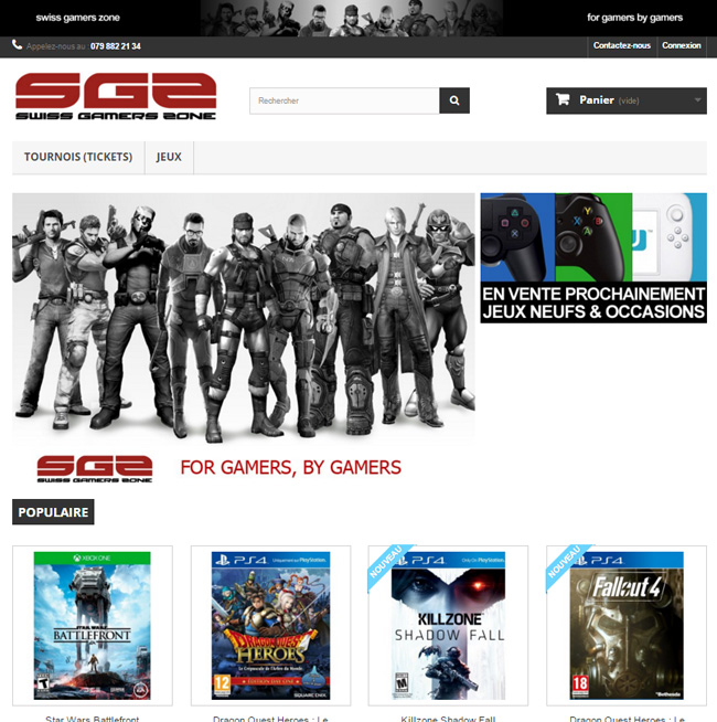 Swiss Gamers Shop (Boutique en ligne)