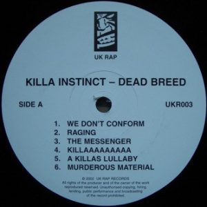 KillaInstinct - Dead Breed - LP
