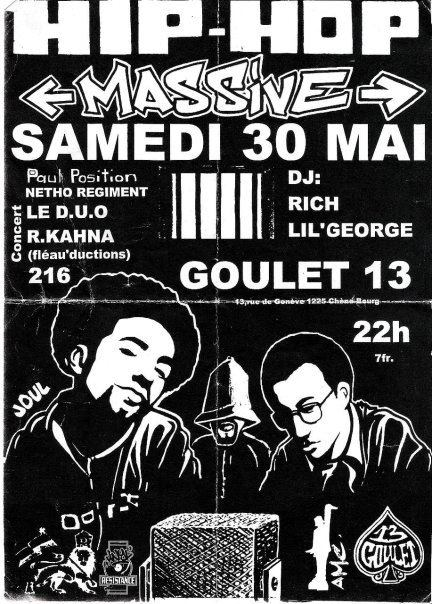 Affiche - Hip-hop massive 216 krew le duo paul position rkahna lil george rich goulet 13
