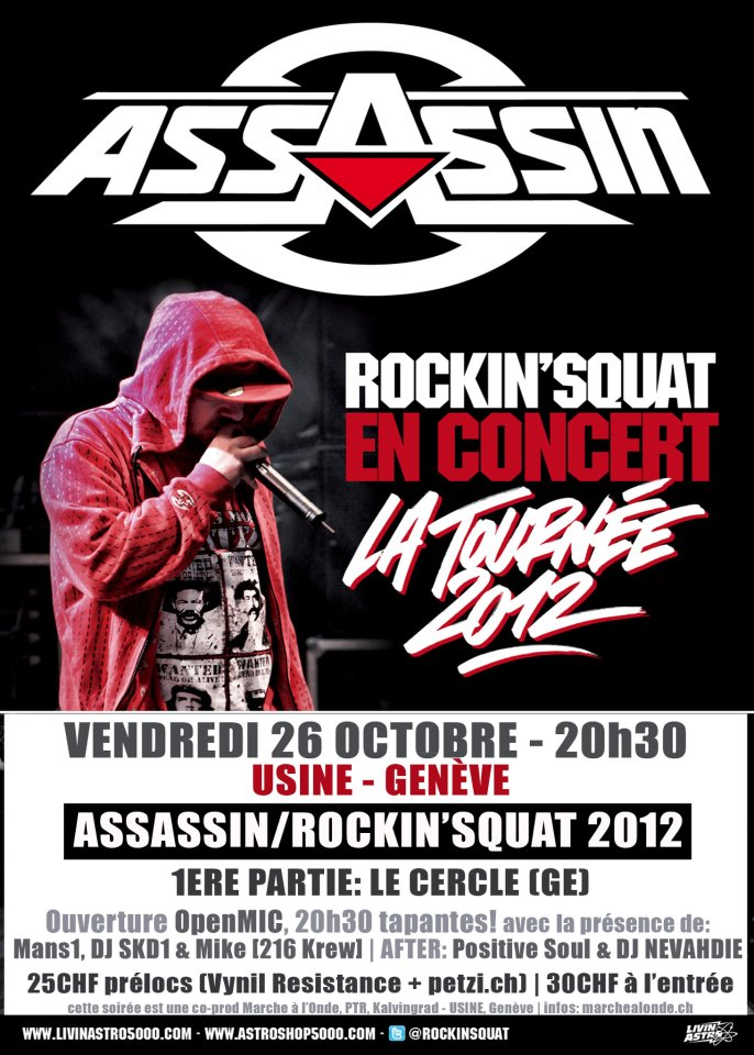 Affiche - assassin mike 216 krew le cercle usine