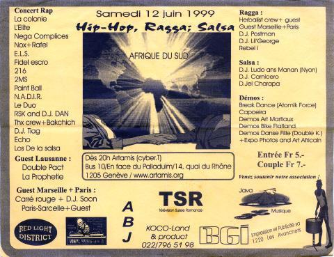 affiche - hip-hop for africa 216 krew