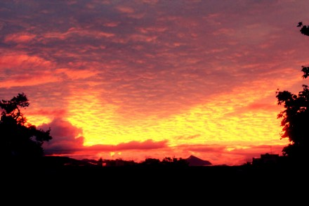 Red sky…